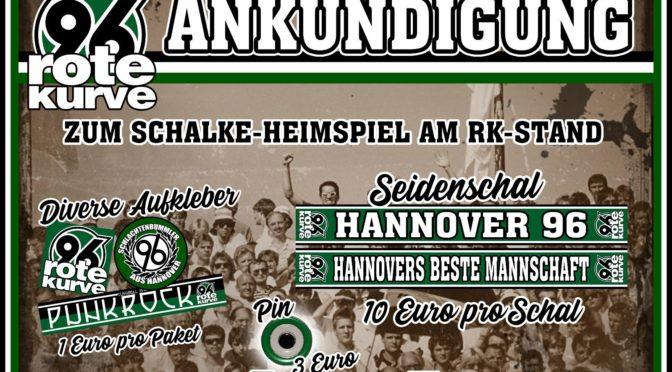 Rote Kurve bietet exklusive Fanartikel zum Schalke-Heimspiel an